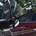 Car seat in shopping cart