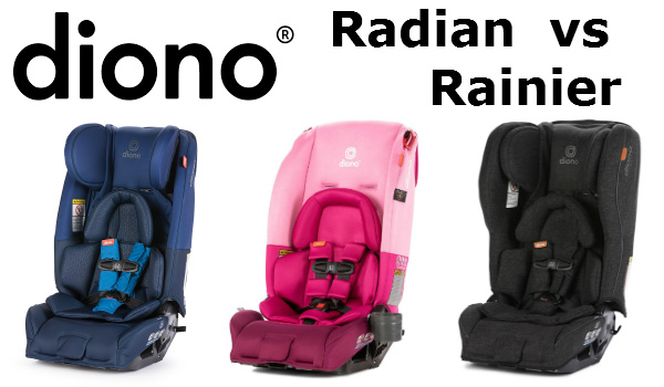 Diono Radian vs Rainier Car Seats