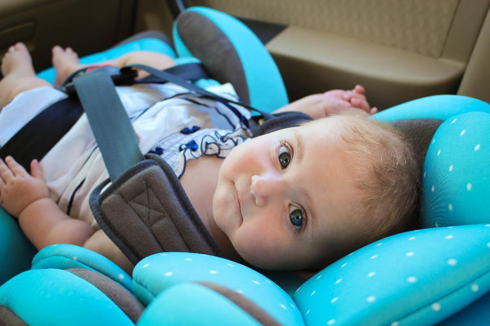 Baby Girl in Infant Car Seat